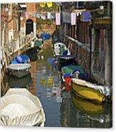 Venice Laundry Acrylic Print