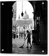 Venice Morning Sweeper Acrylic Print