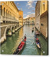 Venice View To The Grand Canal From The Calle Foscari Bridge Acrylic Print