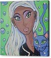Vera And Kira Acrylic Print by Stephanie Temple