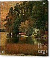 Vermont Autumn Shoreline Acrylic Print