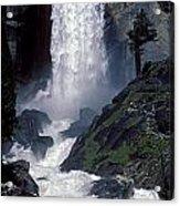 Vernal Falls Spring Flow Acrylic Print