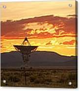 Very Large Array At Sunset Acrylic Print