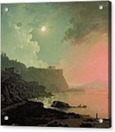 Vesuvius From Posillipo Acrylic Print by Joseph Wright of Derby