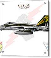 Vfa-25 Fist Of The Fleet Charlie Acrylic Print