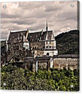 Vianden Castle - Luxembourg Acrylic Print by Juergen Weiss