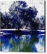 Vibrant Blue Acrylic Print
