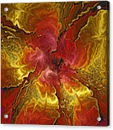 Vibrant Red And Gold Acrylic Print