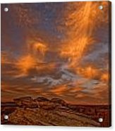 Vibrant Sunset Over The Rim Of Canyon Acrylic Print