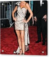 Victoria Beckham Wearing A Marc Jacobs Acrylic Print by Everett