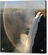 Victoria Falls Acrylic Print by Christian Heeb