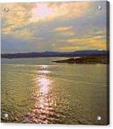 Victoria Harbor Sunset Acrylic Print