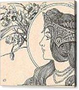 Victorian Lady - 2 Acrylic Print