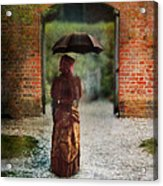 Victorian Lady By Brick Archway Acrylic Print