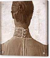 Victorian Lady From Behind Acrylic Print
