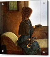 Victorian Lady Gazing Out The Window Acrylic Print