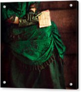 Victorian Lady With Letters Acrylic Print