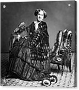Victorian Woman With Furs C. 1853 Acrylic Print