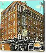 Victory Theatre And Hotel Sonntag In Evansville In 1920 Acrylic Print by Dwight Goss