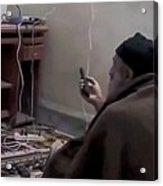 Video Still Of Al Qaedo Terrorist Acrylic Print by Everett