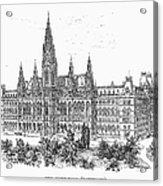Vienna: City Hall, 1889 Acrylic Print
