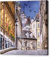 Vienna Cobblestone Alleys And Forgotten Streets Acrylic Print