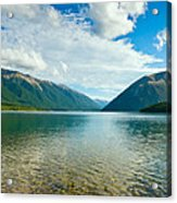 View Above A Beautiful Lake During Mid Day Acrylic Print