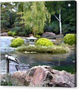 View Across The Pond Acrylic Print
