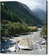 View Along River Marpha To Ghasa Acrylic Print