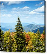 View Along The Highland Scenic Highway Acrylic Print