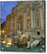 View At Dusk Of The Trevi Fountain Acrylic Print