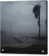 View From A Vehicle Of Hurricane Allen Acrylic Print
