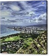 View From Diamond Head Acrylic Print