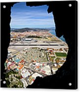 View From Inside Of The Gibraltar Rock Acrylic Print
