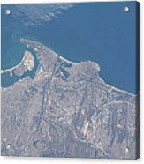 View From Space Of San Diego Acrylic Print