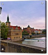 View From The Charles Bridge Revisited Acrylic Print by Madeline Ellis