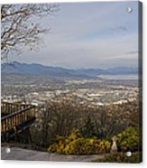 View From The Home On Top Of The Hill Acrylic Print