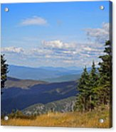 View From Top Of Cannon Mountain Acrylic Print