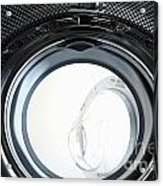 View Inside Of A Washing Machine Acrylic Print by Sami Sarkis