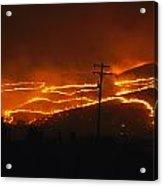 View Of A Forest Fire Near Boise, Idaho Acrylic Print