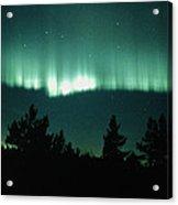 View Of An Aurora Borealis Display Acrylic Print