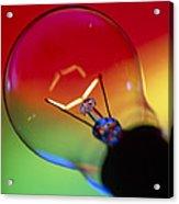 View Of An Lit Electric Light Bulb Acrylic Print