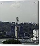 View Of Cable Car And Skyline From The Tiger Sky Tower In Sentos Acrylic Print