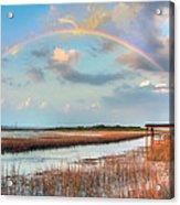 View Of Charleston Rainbow  Acrylic Print by Jenny Ellen Photography
