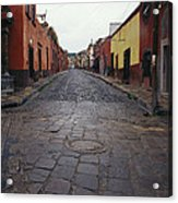 View Of Cobblestone Streets In San Acrylic Print