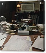 View Of Darwin's Desk At Down House Acrylic Print by Volker Steger