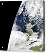 View Of Earth From Space Showing Acrylic Print by Stocktrek Images