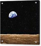 View Of Earth From The Moons Surface Acrylic Print