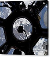 View Of Earth Through The Cupola Acrylic Print