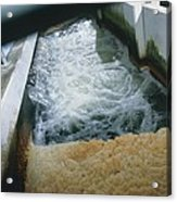 View Of Flotation Waste Water Treatment Acrylic Print